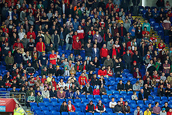 CARDIFF, WALES - Friday, October 11, 2013: Wales supporters during the 2014 FIFA World Cup Brazil Qualifying Group A match against Macedonia at the Cardiff City Stadium. (Pic by David Rawcliffe/Propaganda)