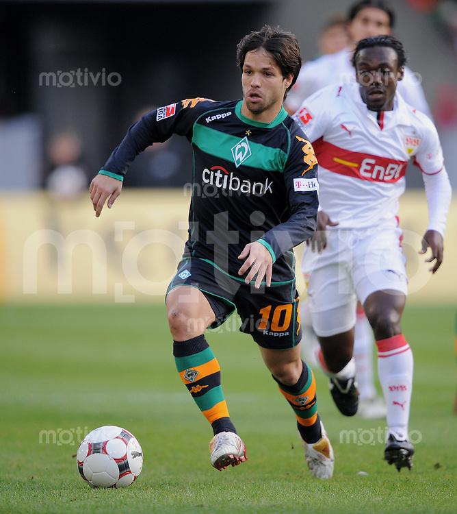 Fussball   1. Bundesliga   Saison 2008/2009    7.Spieltag   04.10.2008 VfB Stuttgart  -  SV Werder Bremen Diego (Werder) am Ball
