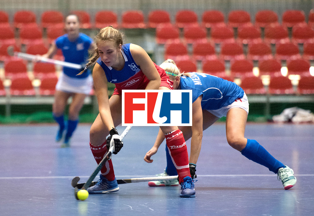 BERLIN - Indoor Hockey World Cup<br /> Czech Republic - Namibia<br /> foto: CORMACK Kiana-Che<br /> WORLDSPORTPICS COPYRIGHT FRANK UIJLENBROEK