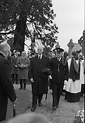 The State Funeral of Sir Alfred Chester Beatty at Glasnevin Cemetery, Dublin..29.01.1968