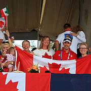 Canadian fans at the 2011 Pan American Games in Guadalajara, Mexico.