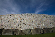 The quartz outer wall at Newgrange, County Meath, Ireland