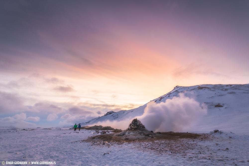 Hverarond and Namafjall in January