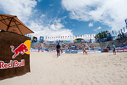Main court arena at A1 Beach Volleyball Grand Slam tournament of Swatch FIVB World Tour 2010, on July 27, 2010 in Klagenfurt, Austria. (Photo by Matic Klansek Velej / Sportida)