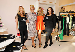 © Licensed to London News Pictures. 02/02/2013. Bristol, UK. Left-right: Sue Wells (mum of the Faiers twins), Billie and Sam Faiers from TOWIE, their aunt Libby Low, at the opening of the Minnies Boutique pop-up shop in Bristol's Cabot Circus shopping centre.  02 February 2013..Photo credit : Simon Chapman/LNP