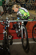 Anna ROSS (AUT) Prepares Transition In The Pre Dawn. Ironman Asia Pacific Championship Melbourne. Triathlon. Frankston And St Kilda, Melbourne, Victoria, Australia. 24/03/2013. Photo By Lucas Wroe