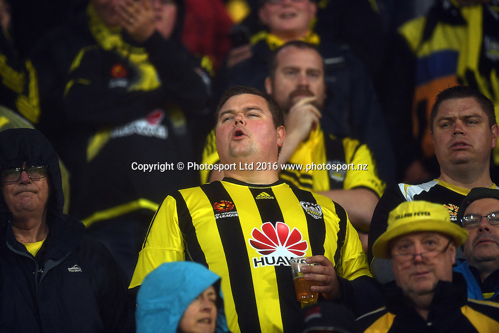 Fans during the Hyundai A-League, Wellington Phoenix vs Adelaide United, Westpac Stadium, Wellington, Sunday 01st January 2017. Copyright Photo: Raghavan Venugopal / www.photosport.nz