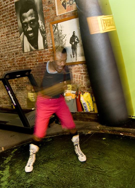 Joe Frazier in his Gym in Philadelphia