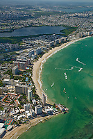 Aerial view of Isla Verde Beach