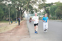 24/11/2013 repro free Barry Wilson (White top) Belturbet Co. Cavan taking part in the Great Ethiopian run in Hawassa as opposed to the Capital Addis Ababa due to a security threat, part of a group of 20 from Ireland who ran the race in aid of Self Help Africa. Photo:Andrew Downes