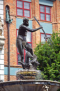 Gdańsk; 2008-06-22. Stare Miasto w Gdańsku. Fontanna Neptuna.