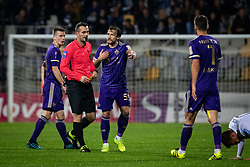 Špiro Peričić of Maribor complaining to the ref about yellow card during football match between NK Maribor and NŠ Mura in 13th Round of Prva liga Telekom Slovenije 2019/20, on October 5, 2019 in Ljudski Vrt, Maribor, Slovenia. Photo by Blaž Weindorfer / Sportida