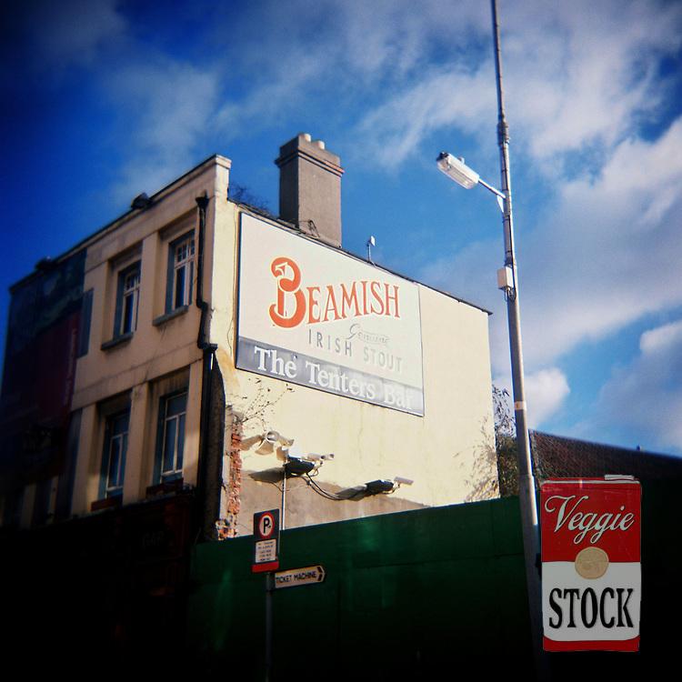 Street scene in Dublin 8, Ireland, January 2010.