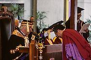 Hong Kong. Chris Paten the last governor; at the graduation ceremony in Chinese university    / Chris Paten le dernier gouverneur, remise des diplômes à l'université chinoise de HongKong  / R00057/42    L1124  /  P0000896