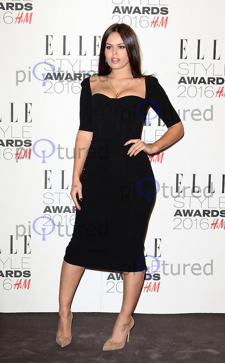 Atlanta De Cadenet, ELLE Style Awards 2016, Millbank London UK, 23 February 2016, Photo by Richard Goldschmidt