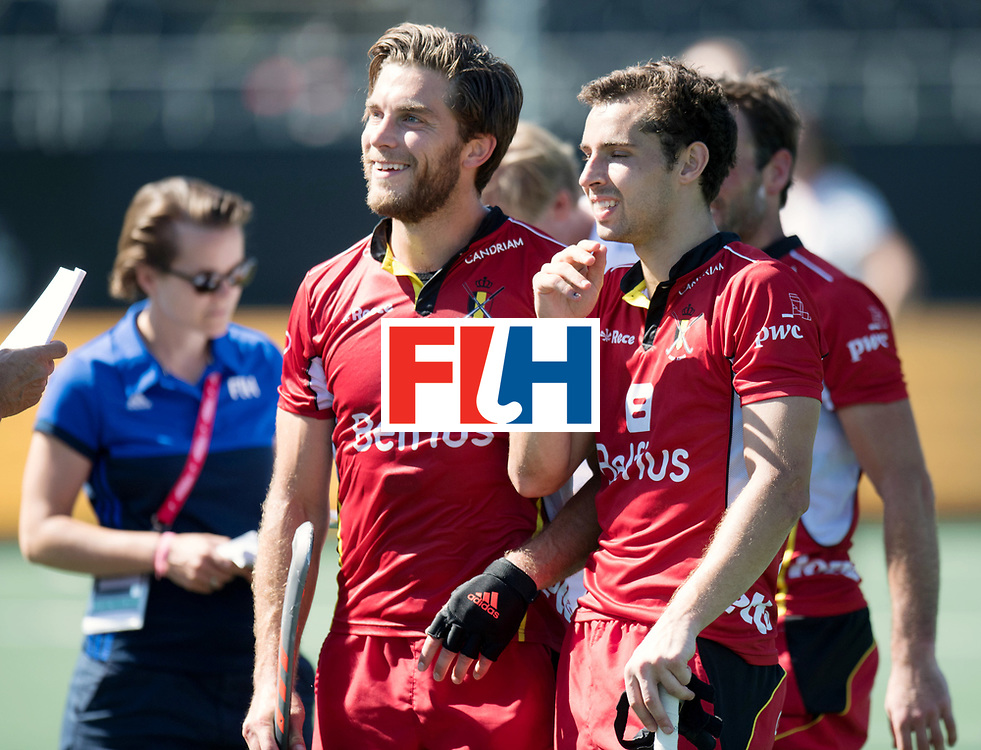 BREDA - Rabobank Hockey Champions Trophy<br /> Belgium - Pakistan<br /> Photo: Cedric Charlier and Florent van Aubel.<br /> COPYRIGHT WORLDSPORTPICS FRANK UIJLENBROEK