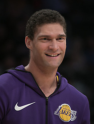 November 21, 2017 - Los Angeles, California, United States of America - Brook Lopez #11 of the Los Angeles Lakers during practice prior to their game with the Chicago Bulls on Tuesday November 21, 2017 at the Staples Center in Los Angeles, California. Lakers defeat Bulls, 103-94. JAVIER ROJAS/PI (Credit Image: © Prensa Internacional via ZUMA Wire)