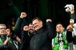 Franjo Bobinac, Veselin Vujovic, Zoran Jankovic, mayor of Ljubljana and Darko Cingesar during reception of Slovenian National Handball Men team after they placed third at IHF World Handball Championship France 2017, on January 30, 2017 in Mestni trg, Ljubljana centre, Slovenia. Photo by Vid Ponikvar / Sportida
