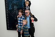 DAMIEN HIRST AND HIS CHILDREN, Nothing Matters. Damien Hirst exhibition. White Cube. Mason's Yard. London. 24 November 2009