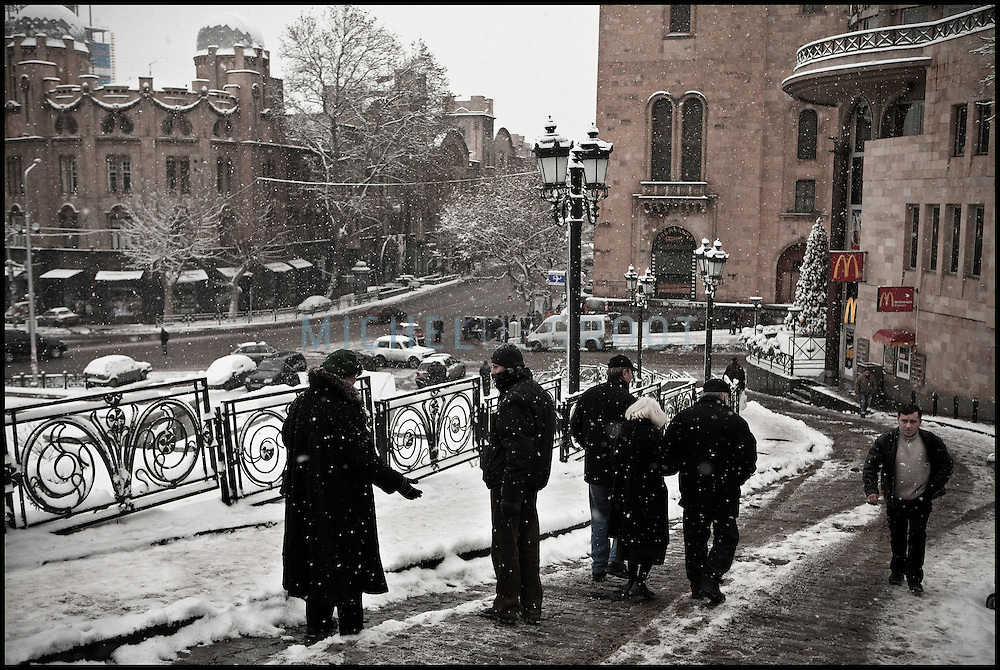Streetscene in Tbilisi, Georgia on 05 January, 2008