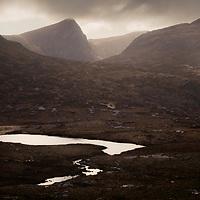 Last light over Sgurr an Fhidhleir, Sutherland