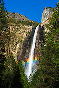 Rainbow over Bridalveil Fall, Yosemite National Park, California USA