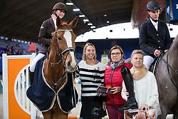 De Graaf Femke, (BEL), Joker van La Rosteehoeve <br /> Super Final Youth Cup VLP-LRV<br /> Vlaanderen Kerstjumping - Memorial Eric Wauters - <br /> Mechelen 2015<br /> © Hippo Foto - Dirk Caremans<br /> 30/12/15