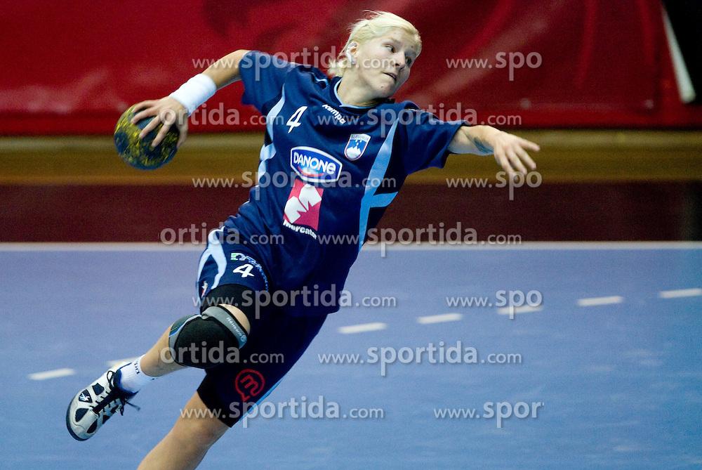 Maja Zrnec at Women European Championships Qualifying handball match between National Teams of Slovenia and Belarus, on October 17, 2009, in Kodeljevo, Ljubljana.  (Photo by Vid Ponikvar / Sportida)
