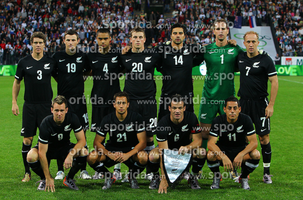 Team of New Zealand at friendly football match between National team of Slovenia and New Zealand before World Cup South Africa 2010 on June 04, 2010, at Stadium Ljudski vrt, in Maribor, Slovenia. (Photo by Vid Ponikvar / Sportida)