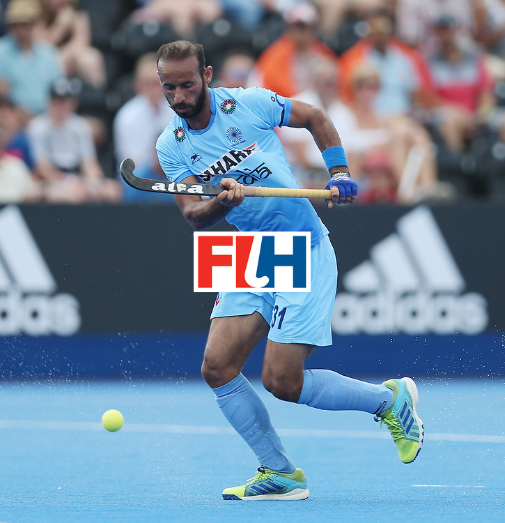 LONDON, ENGLAND - JUNE 18:  Ramandeep Singh of India during the Hero Hockey World League Semi-Final match between Pakistan and India at Lee Valley Hockey and Tennis Centre on June 18, 2017 in London, England.  (Photo by Alex Morton/Getty Images)