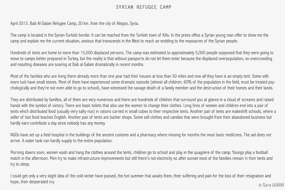 Syrian Refugee Camp, Syria, West Asia