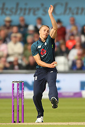 England's Tom Curran during the One Day International match at Emerald Headingley, Leeds.