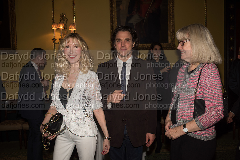 BASIA BRIGGS; ALEXANDER NEWLEY; ANNE DUNHILL, Launch hosted by Quartet books  of Madam, Where Are Your Mangoes? by Sir Desmond de Silva at The Carlton Club. London. 27 September 2017.