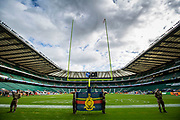 Twickenham prepares for today NFL match, during the International Series match between Arizona Cardinals and Los Angeles Rams at Twickenham, Richmond, United Kingdom on 22 October 2017. Photo by Jason Brown.