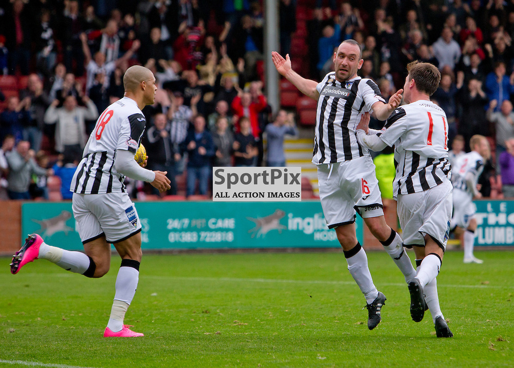 Dunfermline Athletic v Airdrieonians SPFL League One Season 2015/16 East End Park 26 September 2015<br /> Michael Moffat celebrates his goal<br /> CRAIG BROWN | sportPix.org.uk