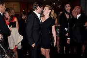 LOUIS DOWLER; KATE WINSLET, Mario Testino exhibition.  Hosted by Vanity Fair Spain and Lancome. Thyssen-Bornemisza Museum (Paseo del Prado 8, Madrid.20 September 2010.  -DO NOT ARCHIVE-© Copyright Photograph by Dafydd Jones. 248 Clapham Rd. London SW9 0PZ. Tel 0207 820 0771. www.dafjones.com.
