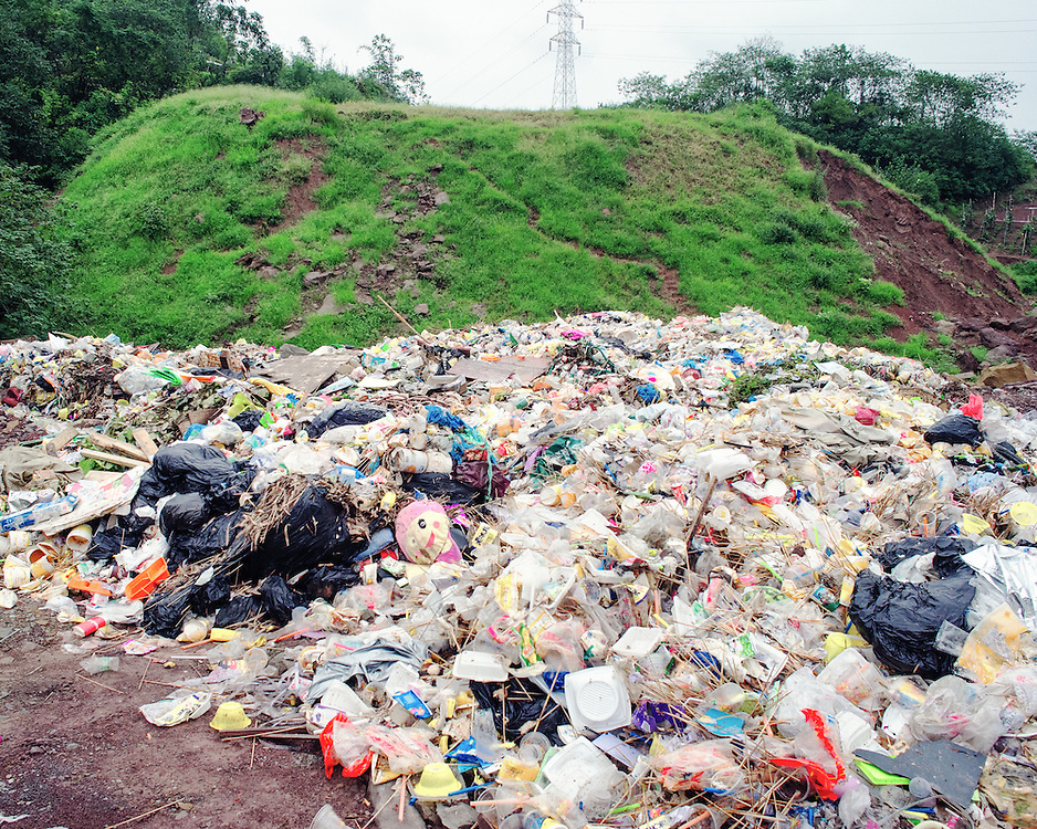 An illegal dump site.