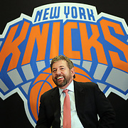New York Knicks owner James Dolan at the Phil Jackson  Press Conference introducing Jackson as the new president of the New York Knicks at Madison Square Garden, New York, USA. 18th March 2014. Photo Tim Clayton