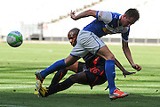 CAPE TOWN, South Africa - Monday 21 January 2013, Izet Hajrovic of Grasshopper Club Zurich is tackled by Shingamawe Apsai of Jomo Cosmos during the soccer/football match Grasshopper Club Zurich (Switzerland) and Jomo Cosmos at the Cape Town stadium..Photo by Roger Sedres/ImageSA