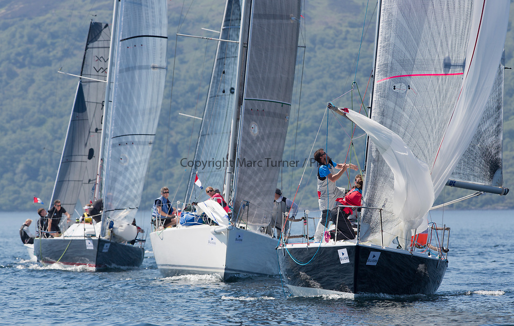 Silvers Marine Scottish Series 2017<br /> Tarbert Loch Fyne - Sailing<br /> <br /> IRC Class 3 with IRL1484, Harmony, John Swan, Howth Yacht Club, Half Tonner<br /> <br /> Credit Marc Turner / PFM