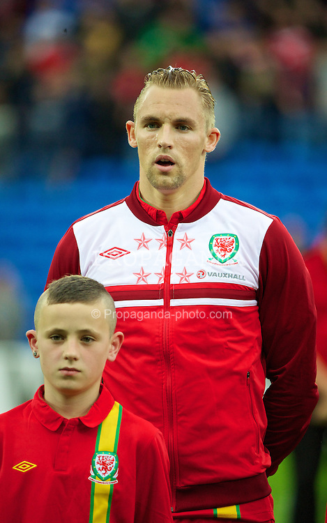 CARDIFF, WALES - Wednesday, August 14, 2013: Wales' Jack Collison before an International Friendly against Republic of Ireland at the Cardiff City Stadium. (Pic by David Rawcliffe/Propaganda)