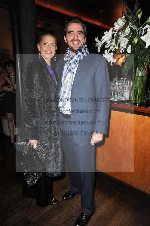 PRINCE & PRINCESS NIKOLAOS OF GREECE at a party to celebrate the 10th anniversary of the Myla lingerie brand held at Almada, 17 Berkeley Street, London on 17th November 2010.