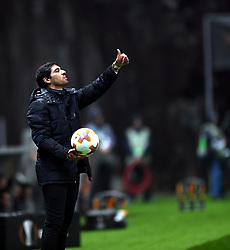 BRAGA, Oct. 20, 2017  Coach of Braga, Abel Ferreira reacts during the Europa League soccer match between SC Braga and PFC Ludogorets 1945 at the Braga Municipal Stadium in Braga, Portugal, on Oct. 19, 2017. (Credit Image: © Zhang Liyun/Xinhua via ZUMA Wire)
