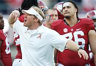 Nov 15, 2014; Tuscaloosa, AL, USA; Alabama Crimson Tide strength coach Scott Cochran during the game against the Mississippi State Bulldogs at Bryant-Denny Stadium. Mandatory Credit: Marvin Gentry