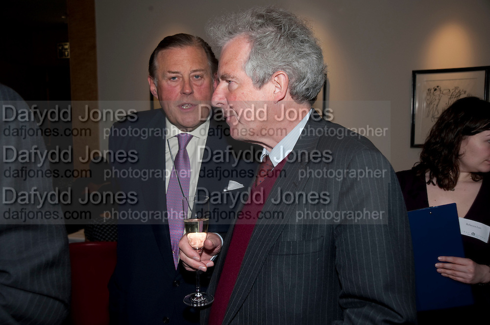 DAVID KER; WILLIAM WALDEGRAVE, Literary charity First Story fundraising dinner. Cafe Anglais. London. 10 May 2010. *** Local Caption *** -DO NOT ARCHIVE-© Copyright Photograph by Dafydd Jones. 248 Clapham Rd. London SW9 0PZ. Tel 0207 820 0771. www.dafjones.com.<br /> DAVID KER; WILLIAM WALDEGRAVE, Literary charity First Story fundraising dinner. Cafe Anglais. London. 10 May 2010.