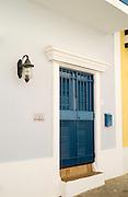 Villa Tranquilidad; Colorful building facade, Old San Juan/Viejo San Juan.