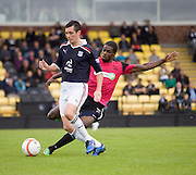 Dundee's Stephen O'Donnell takes on Southend United's Anthony Grant - Dundee v Southend United - East Fife Tournament at New Bayview<br /> <br /> &copy; David Young<br /> <br /> <br /> http://www.davidyoungphoto.co.uk