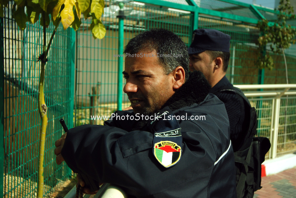 Palestinian policemen at the zoo. Qalqilya Zoo is a small 2-hectare (4.9 acres) zoo in the Palestinian city of Qalqilya on the western edge of the West Bank.Established in 1986, it is the only municipal zoo in the Palestinian territories. The zoo houses 170 animals, a Natural History Museum, a children's entertainment park, and an on-site restaurant.