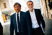 Dario Stefano and Graziano Delrio in Monte Citorio square on 3 September 2019. Christian Mantuano / OneShot