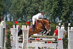 Vrins Nick (BEL) - Copitol<br /> Nationaal Kampioenschap Jonge Paarden<br /> Stal Hulsterlo - Meerdonk 2010<br /> © Dirk Caremans